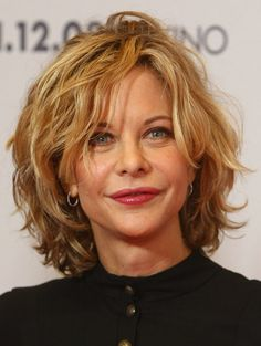 """Meg Ryan Photos - Actress Meg Ryan attends a photocall for """"The Women"""" at the Hotel de Rome on November 2008 in Berlin, Germany. (Photo by Sean Gallup/Getty Images) * Local Caption * Meg Ryan - The Women Photocall Medium Hair Styles For Women, Hair Styles 2014, Short Hair Cuts For Women, Short Hairstyles For Women, Curly Hair Styles, Medium Hairstyles, Medium Haircuts, Hairstyle Short, Pixie Haircuts"""