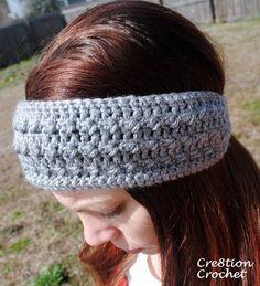 Sleek and Skinny Headband Ear Warmer free written pattern from Cre8tion Crochet