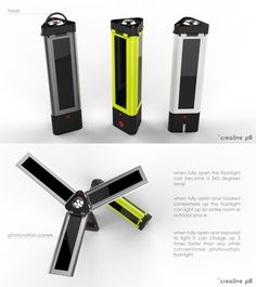 Photovoltaic flashlight designed by Iorgulescu Vlad Paul