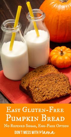 Easy Gluten-Free Pumpkin Bread #glutenfree #recipes #dessert - DontMesswithMama.com