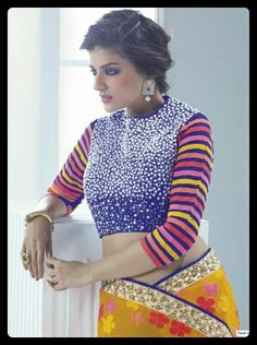 Rich blouse n also reach designer saree
