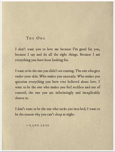 Mobile Photography/Art – Saturday Poetry – 'The One' by Lang Leav