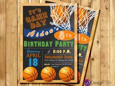 Baketball Birthday Invitation / Sports Theme Invitation / Basketball Birthday/ Digital, Printable Invitation #K1042 by ByDesignDen on Etsy https://www.etsy.com/listing/219212494/baketball-birthday-invitation-sports