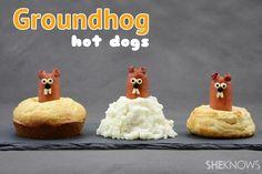 Cute idea. Hot dog, that's a tasty groundhog!