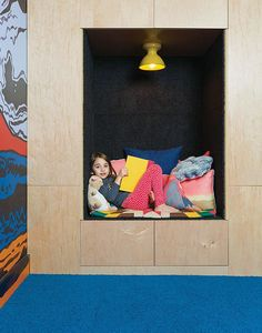 What book-devouring kid wouldn't go crazy for her own built-in reading nook?