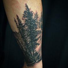 Nature Guys Forearm Tree Tattoo Ideas