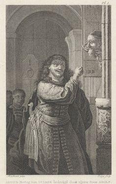 Adolf bedreigt zijn vader, Philippus Velijn, 1819. Bron: Rijksmuseum, Amsterdam