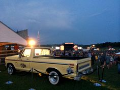 vintage ford truck. ford ranger at boots & hearts music festival
