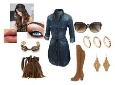 simple country by brandi-bowermaster on Polyvore featuring polyvore fashion style LE3NO Sbicca ASOS Lori's Shoes Victoria Beckham country women's clothing women's fashion women female woman misses juniors
