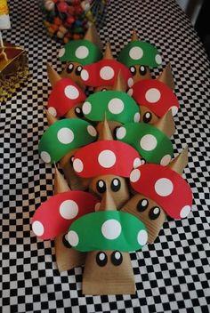 Festa Super Mario - Ideia de lembrancinha - Sacolinha 3