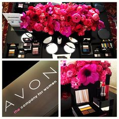 The chic decor at my first Avon Makeup Event! #Beauty