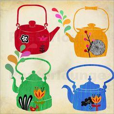 vintage kettles | Elisandra