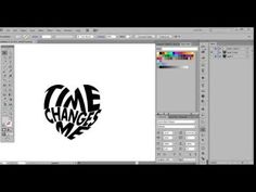 (8) 2. Adobe Illustrator - Morph Text into an Object - YouTube