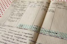 Moleskine Notebook Transformation –   NOTEBOOK TO WEEKLY PLANNER. LOVE IT.