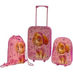 Paw Patrol Skye Pink 3 Piece Childrens Kids Travel Luggage Set Trolley Bag Suitcase Backpack Drawstring Shoes Swim Gym Bag - http://handbags.kindle-free-books.com/paw-patrol-skye-pink-3-piece-childrens-kids-travel-luggage-set-trolley-bag-suitcase-backpack-drawstring-shoes-swim-gym-bag/