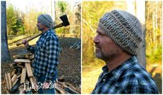 Hickory Bark - Free Crochet Pattern by ELK Studio #beanie #crochet #mens hat