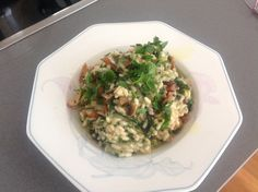 Mushroom herb risotto with looots of olive oil