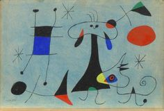 Joan Miro. Abstract Surrealism. Modern art