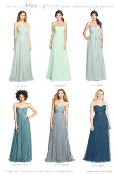 Soft blue bridesmaid dresses