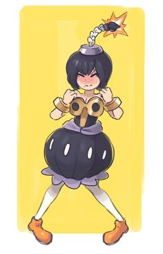 """""""Had to get on the Bowsette train, so here's a Bob-ombette, or perhaps Peachomb or Princess Omb"""" Super Mario Bros, Super Smash Bros, Princess Peach Cosplay, Mario Fan Art, Nintendo, Gamers Anime, Sonic, Girls Anime, Video Game Characters"""