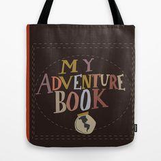 my adventure book.. up, carl and ellie Tote Bag by studiomarshallarts - $22.00