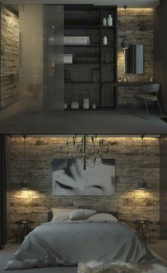 Спальня в тёмных тонах - Галерея 3ddd.ru