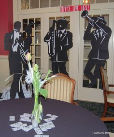 Jazz Table Decorations | Hawthorne Hotel: Food and Decor from the 20s, 40s, 60s, 80s and Today