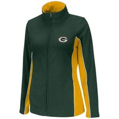 Green Bay Packers Ladies Game Theory Full Zip Jacket - Green