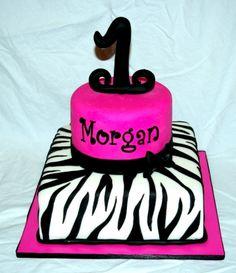 Hot pink & zebra cake By jardot22 on CakeCentral.com