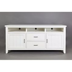 Rosecliff Heights Hicks Transitional Wooden Media Console Table Color: White, Size: H x W x D White Tv Stands, Cool Tv Stands, Home Furniture Online, Furniture Deals, 50 Tv Stand, Console Cabinet, Console Table, Sofa End Tables, Transitional Style