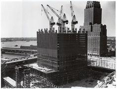 World Trade Centre Under Construction in 1969.