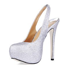 Sparkling Glitter Stiletto Heel Slingbacks / Sandals Party / Evening Shoes