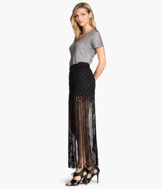 H&M Fringed Skirt $69.95 - this whole outfit is so my style