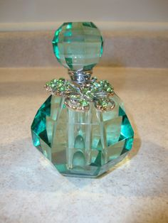 Crystal perfume bottle. by crystallady1947 on Etsy, $29.00