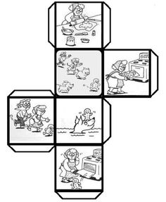 1000 images about escriptura on story cubes Gingerbread Man Story, Gingerbread Man Activities, English Activities, Book Activities, Teaching Reading, Teaching Tools, Cube Template, Story Cubes, Library Lessons