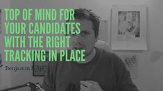 How to generate a massive Advantage when you stay top of mind for your candidates with the right tracking in place? Never Overlook the last of your Candid. Candid, Track, Mindfulness, Places, Tops, Things To Do, Runway, Truck, Running
