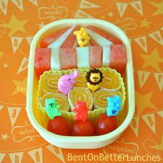BentOnBetterLunches: Happy One Year Blogiversary To Me! bento box, lunch idea, box idea, circus theme, lunch boxes, circus tent, food, bentonbetterlunch, lunchbox