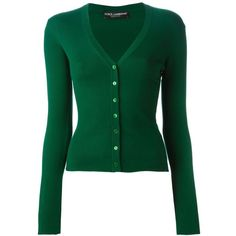 Dolce & Gabbana ribbed knit cardigan (€1.395) ❤ liked on Polyvore featuring tops, cardigans, green, button front cardigan, green cardigan, green v neck cardigan, ribbed knit top and dolce gabbana top