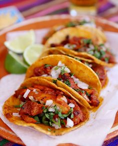Authentic  Adobada Tacos