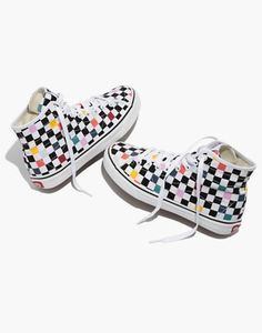 1ff8a18a595 Vans® Unisex SK8-Hi Decon High-Top Sneakers in Party Checkerboard