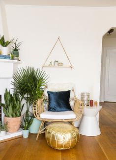 This Boho Living Room Makeover Is #Jungalow Goals via Brit + Co