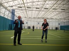Sport Network Perth in Strathallan's Indoor Tennis Hall with speaker Charlie Guest.Not entirely sure what I am doing with my hands!