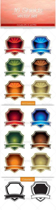 Colorful Shield Set