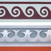 Byzantine iconography: Michalis Alevizakis  Orthodox Painting Art  Iconographer Ornament Drawing, Decorative Borders, Orthodox Icons, Byzantine, Paint Designs, Stencils, Wall Art, Antiques, Drawings