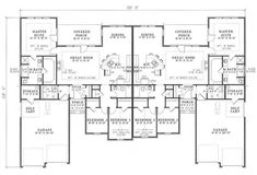 3 bedroom duplex floor plans | House plans and Home plans by Ehouseplans.com Homeplans with Floor