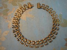 Vintage goldtone collar necklace in great by MoInKiBeadDesigns, $16.45