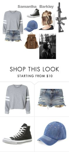 """""""Untitled #25"""" by alessiabazzurro on Polyvore featuring Converse, WithChic and Été Swim"""