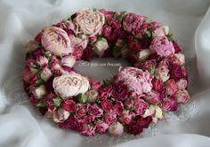 My homemade rose wreath....