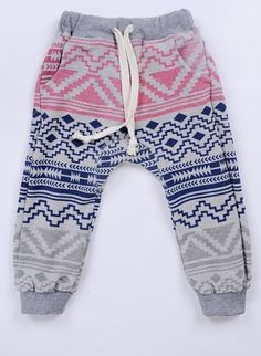 printed knitted harem pants
