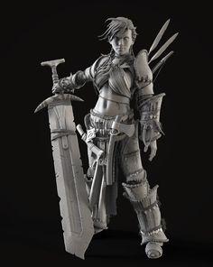 Barbarian Woman by Reza Abedi | Fantasy | 3D | CGSociety